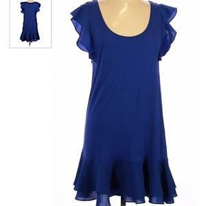 French Connection   Royal Blue Ruffle Dress